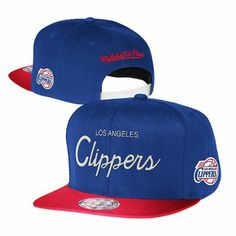 Los Angeles Clippers Mitchell and Ness NBA Two Tone Reflective Snapback Hat (Royal Blue)