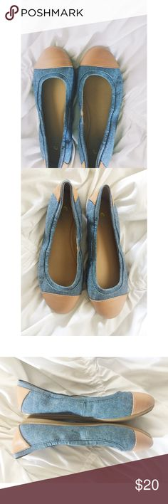 Easy Spirit e360 Flats Easy Spirit e360 Flats.  Women's size 7WW.  Great condition.  Denim with tan trim.  No box. Easy Spirit Shoes Flats & Loafers