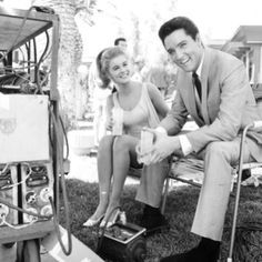 Elvis and Ann Margret taking a break from filming Viva Las Vegas ...