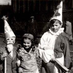 Children in costume on Purim in the Landsberg DP camp, Germany, 1947-1948.