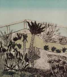 Gillian Murray Botanical Garden Screenprint + Collagraph