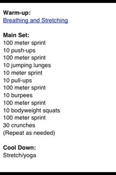 Sprinters workout routine