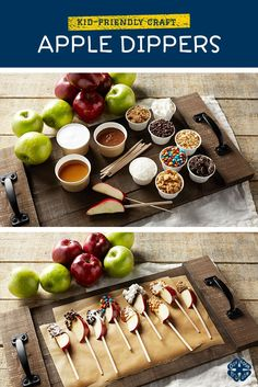 Your friends and family will love these delicious treats of Fall! Apple dippers are east to make and absolutely delicious. Your kiddos will also love to help make these yup apple pops.  They can customize them however they'd like :)