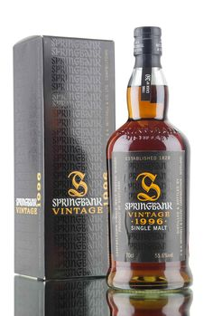 A 1996 vintage Springbank bottled exclusively for wine & spirits merchant… Springbank Whisky, Spiritus, Hooch, Single Malt Whisky, Wine And Spirits, Cool Trucks, Cigars, Bourbon, Whiskey Bottle