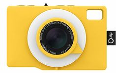 TheQ Camera: Mustard; a social camera on the go that's waterproof and with a ring flash