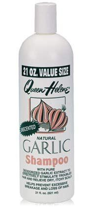 Queen Helene Unscented Garlic Shampoo. Garlic shampoo is the cure for shedding