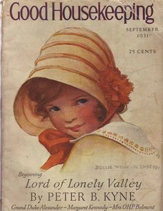 1931 Good Housekeeping September Jessie Willcox Smith Willa Cather Brazil Girl