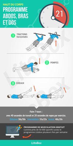 Programme pour les abdos, les bras et le dos