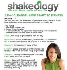 3 day Shakeology cleanse....Message me on Facebook to get your cleanse pack today !!!