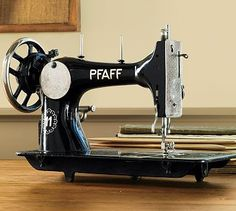 Vintage sewing machine.