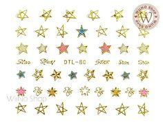 Product Image Star Nail Art, Star Nails, Base Coat, Top Coat, Nail Art Stickers, Gold Stars, You Nailed It, Detail, Nail Ideas