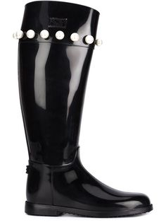 Shop Boutique Moschino pearl detail rain boots in Al Ostoura from the world's best independent boutiques at farfetch.com. Shop 300 boutiques at one address.