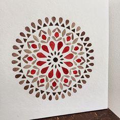 Simple red mandala. Art by Claudia Calderas