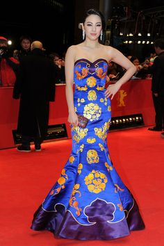 Zhang Yuqi at the Berlinale International Film Festival, 2012 in a NE•TIGER gown