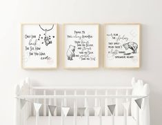 Instant Collection 3 Classic Winnie The Pooh Quote Prints Nursery Themes, Nursery Decor, Room Decor, Nursery Ideas, Nursery Inspiration, Nursery Prints, Room Ideas, Winnie The Pooh Quotes, Trendy Kids