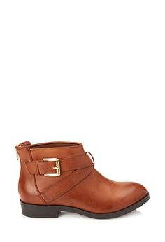 Crisscross Buckled Booties | FOREVER21 - 2055879983