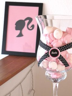 ribbon around glass with cinderella circle  framed silhouette