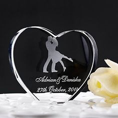 Cake Toppers Classic Double Ceramic Hearts Cake Topper  MSKU728639  #wedding, #caketopper by RUSTIKOcakeDecoratio on Etsy