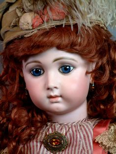"""*ONCE IN A LIFETIME"""" ~ by: Jumeau Triste, 30"""" T., 'Long Face' Antique French Bebe Doll c.1879-1875"""