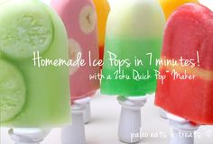 Toss out your old popsicle molds for a patented Zoku Quick Pop Maker and make amazing unique homemade ice pops for your family this summer in just 7 minutes!