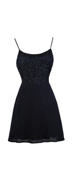 Lily Boutique Crochet Lace Tie Back A-Line Dress in Navy, $38 Navy Tie Back Lace…