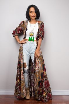 Your place to buy and sell all things handmade African Inspired Fashion, African Fashion, Bohemian Style Clothing, Ethnic Style, Bohemian Fashion, Bohemian Summer Dresses, Boho Dress, Smock Dress, Shirt Dress