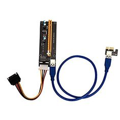 Cywulin 2x PCI-E Extender Adapter , Express Powered Riser Card W/ USB 3.0 Cable 1x to 16x Monero With High Speed FFC Cable