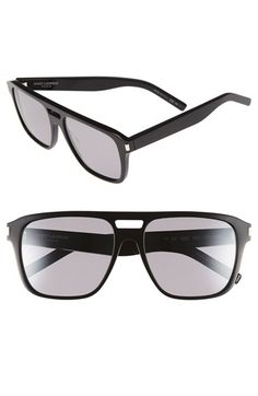 Free shipping and returns on Saint Laurent 56mm Aviator Sunglasses at Nordstrom.com. Handmade Italian construction defines bold sunglasses with exceptional aviator style.