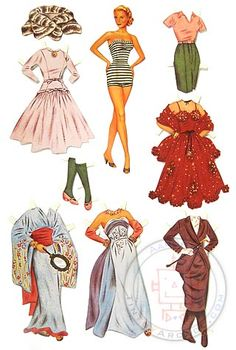 Paper Dolls : Grace Kelly Paper Doll Set : 1955 Hollywood Star ...This must have been a pretty special book of paper dolls! I loved paper dolls and made and decorated my own dresses for hours.