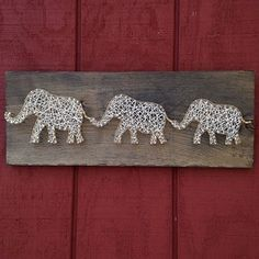 These three can ship out today for your Valentine check it out at our Etsy shop! #valentines #gift #elephant #elephants #wildlife #safari #african #africa #stringart #triplets #animals #animallover #animallovers #wild #giftidea #handmade #gold #wood #rustic #madeinmaine #cool #badass #cute #nature #naturelovers
