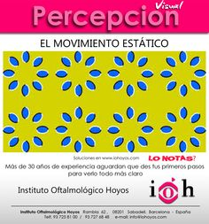 Mira la pantalla! Percibes la sensación de movimiento en ésta imagen? Si no es así... llámanos. www.iohoyos.com
