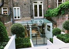 "It's all about the Georgian house with the contemporary extention GlasSpace is a slick and stylish double-storey glass extension for the ""don't move, improve"" brigade Orangerie Extension, Extension Veranda, Glass Extension, Extension Ideas, Interior Exterior, Exterior Design, Conservatory Kitchen, Georgian Homes, Georgian Townhouse"