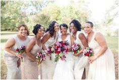 Bridesmaids Pose, Yorktown Wedding Photography | Angie McPherson Photography