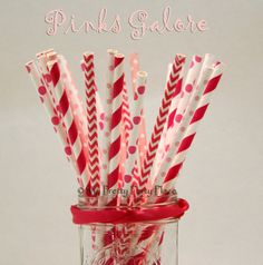 Hey, I found this really awesome Etsy listing at https://www.etsy.com/listing/231934629/hot-pink-paper-straws-girls-party