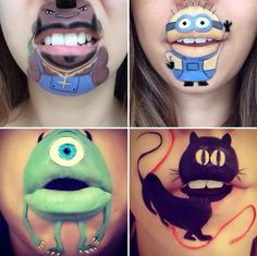 Makeup Ideas: Makeup Artist Laura Jenkinsons Cartoon Lip Makeup  #LauraJenkinson #lipmakeup #