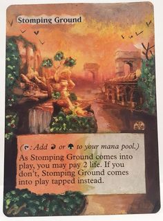 Stomping Ground This Is One Of My Altered Cards From This Weeks Batch! To See Them All Go To   http://stores.ebay.com/MtgAlteredMagicCards #MTG #MtgAddicts #MtgAlteredArt #MtgHandPainted #MtgExtendedArt #Magic #MagicTheGathering #MtgAlter #MtgArt #WOTC #FNM #EDH
