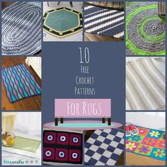 Warm up your floors during the cold winter season with these 10 Free Crochet Patterns for Rugs.  With great tutorials for making rugs for the living room, bathroom, or even front porch, these crocheted rugs are great for all levels of crochet fans.