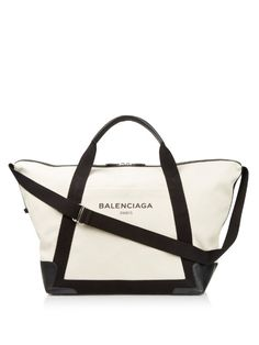 Balenciaga Ligne large cotton-canvas weekend bag