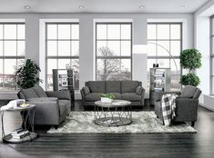 Furniture Of America Yazmin Gray Contemporary Sofa in Linen Like Fabric Add a touch of urban chic to your Furniture Of America, Contemporary Sofa, Living Room Sets, Furniture, Room Set, 3 Piece Living Room Set, Contemporary Living Room, Contemporary Living Room Design, Upholstered Chairs