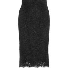 Dolce & Gabbana Cotton-blend lace skirt (4.210 RON) ❤ liked on Polyvore featuring skirts, dolce & gabbana, knee length lace skirt, sheer slip, see through skirt, lace slip and slip skirt