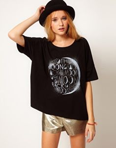 ASOS T-Shirt With 'To The Moon & Back' Print. $28.14. http://us.asos.com/ASOS/ASOS-T-Shirt-with-To-The-Moon-and-Back-Print/Prod/pgeproduct.aspx?iid=2574003=4169=1992=0=0=200=-1=Black