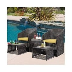 details zu sitzgruppe polyrattan gartenmöbel sofa sessel garten, Gartengestaltung