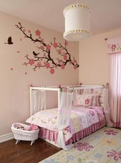 Items similar to Wall Decals Cherry Blossom branch wall decals nursery wall decals children girl baby wall decals wall sticker wall decor flying birds on Etsy Bedroom Themes, Girls Bedroom, Bedroom Decor, Budget Bedroom, Bedroom Office, Bedroom Wall, Girl Nursery, Master Bedroom, Wall Decor