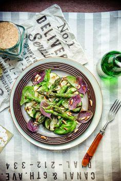 Grilled asparagus & zucchini salad