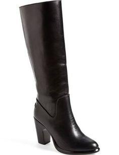 rag & bone 'Lilford' Knee High Leather Boot (Women) Womens Black $755 Nordstrom