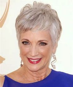 Short pixie haircut for women over 50. Pixie hairstyles for older women with grey or salt and pepper hair.