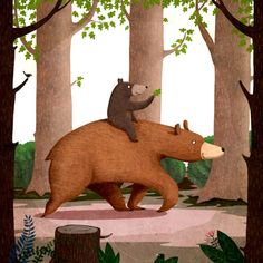 Hug me, please / childrens book by Emilia Dziubak, via Behance