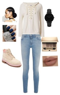 """""""Cold days"""" by nariviahoyos on Polyvore featuring NSF, CLUSE, Timberland, OPI, Clarins and Givenchy"""