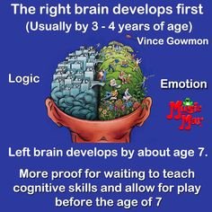 Brain development in a child Me Quotes Funny, Brain Facts, Therapy Worksheets, Right Brain, Math Practices, Toddler Learning, Good Advice, Teaching, Parenting