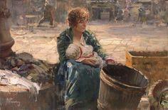 Panza, Giovanni (b,1894)- Starving Woman w Child